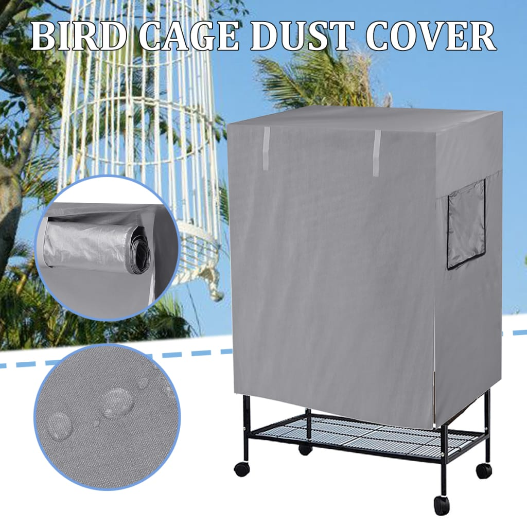 Bird Cage Cover Shell Guard Catcher Bag Basket - 2 Colours