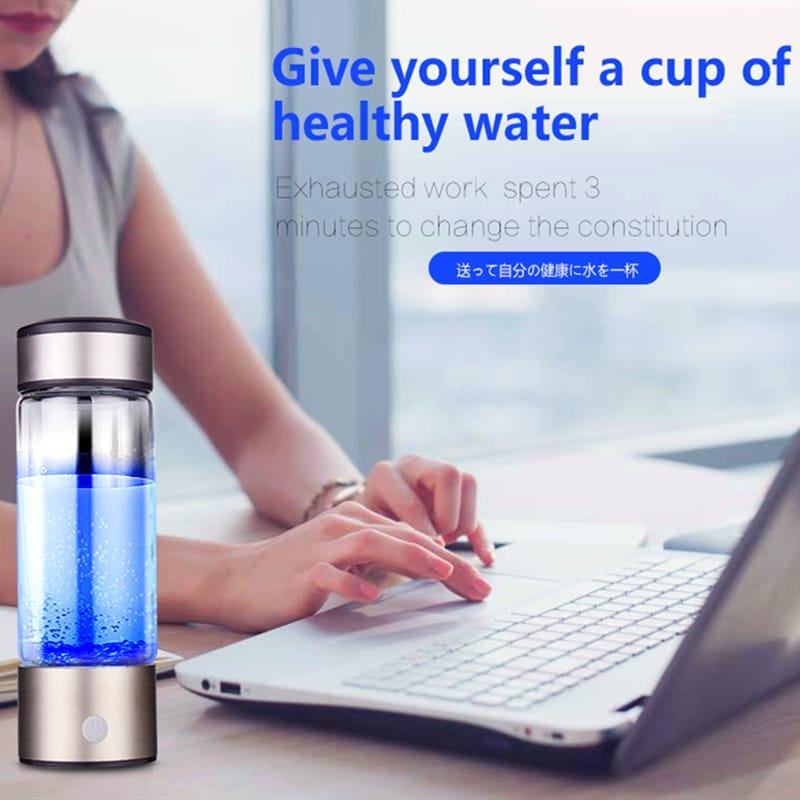 Titanium Hydrogen-rich Water Bottle Usb Ionizer Antioxidants