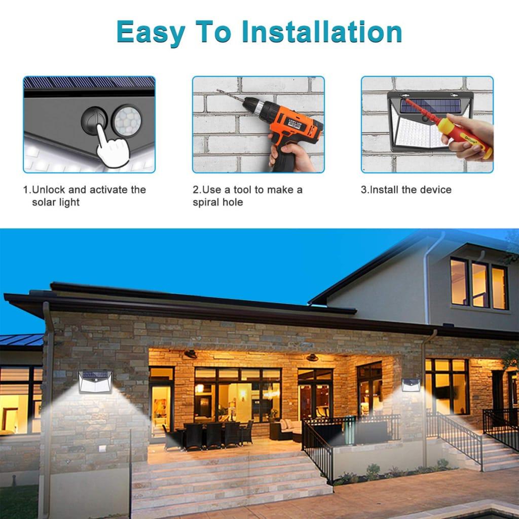 Solar Power Pir Motion Sensor Wall Light - 3 Options