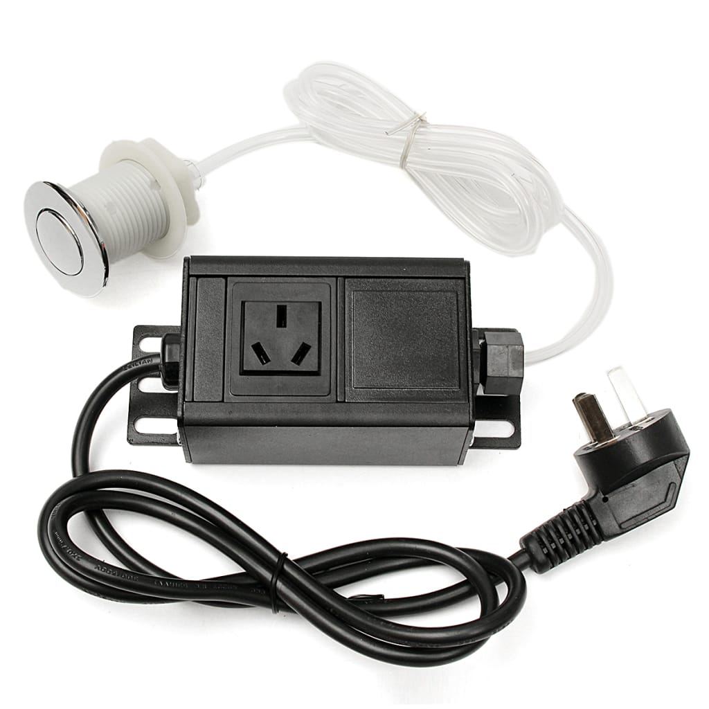 Garbage Disposal Air Switch Button + Plug for Massage Chair