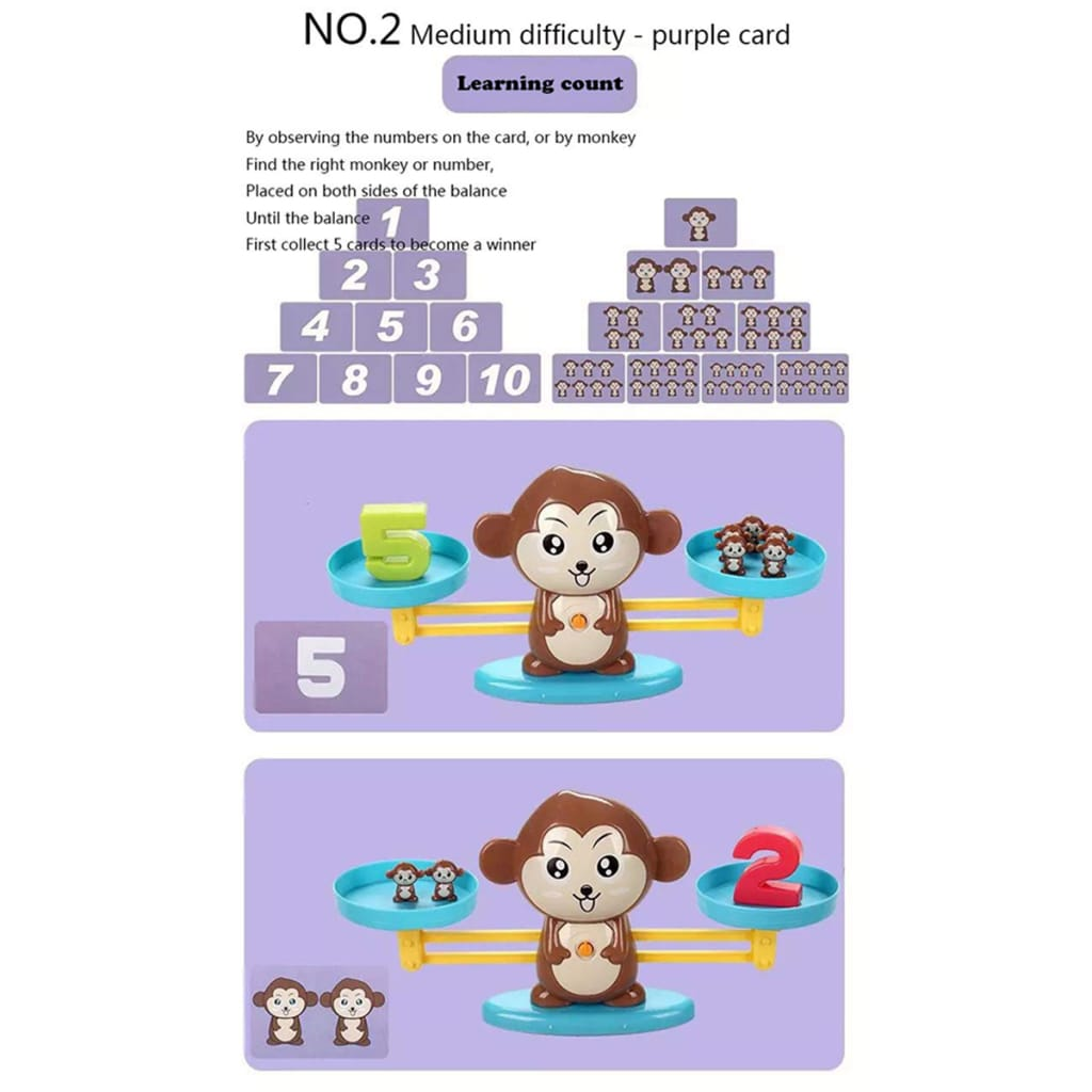 Animals Number Balance Math Toys Educational 3 Options