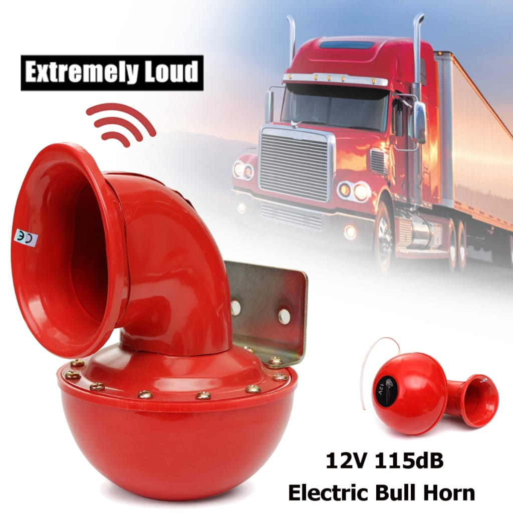 Metal Red Electric Bull Horn Super Loud Raging Sound