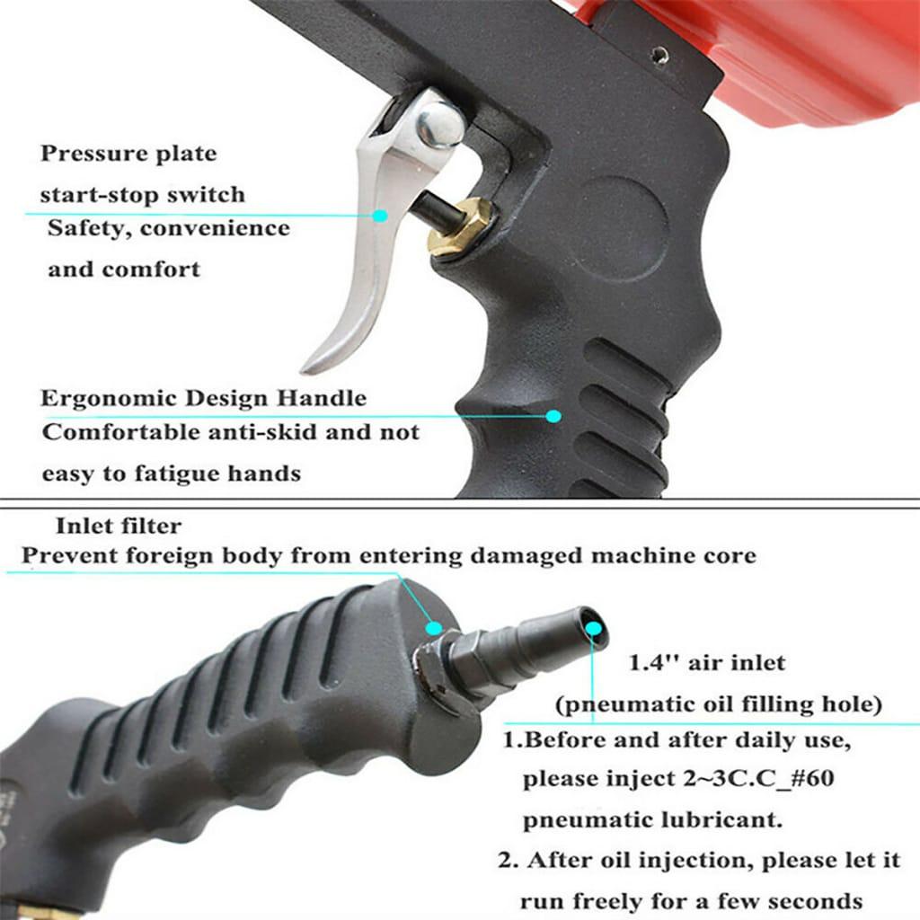 Portable Sand Blast-er Media Blasting Nozzle G-un -