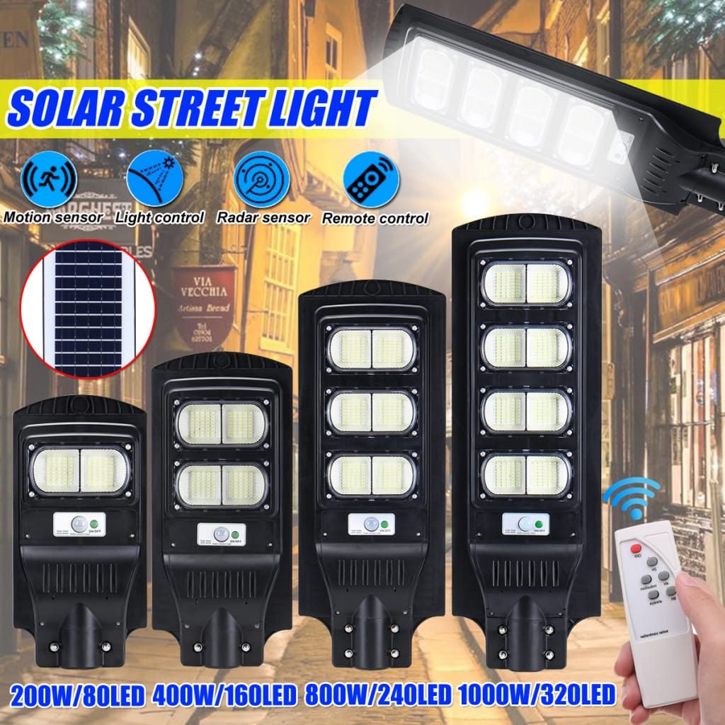 Solar Power Street Light Infrared Motion Sensor Outdoor Wall