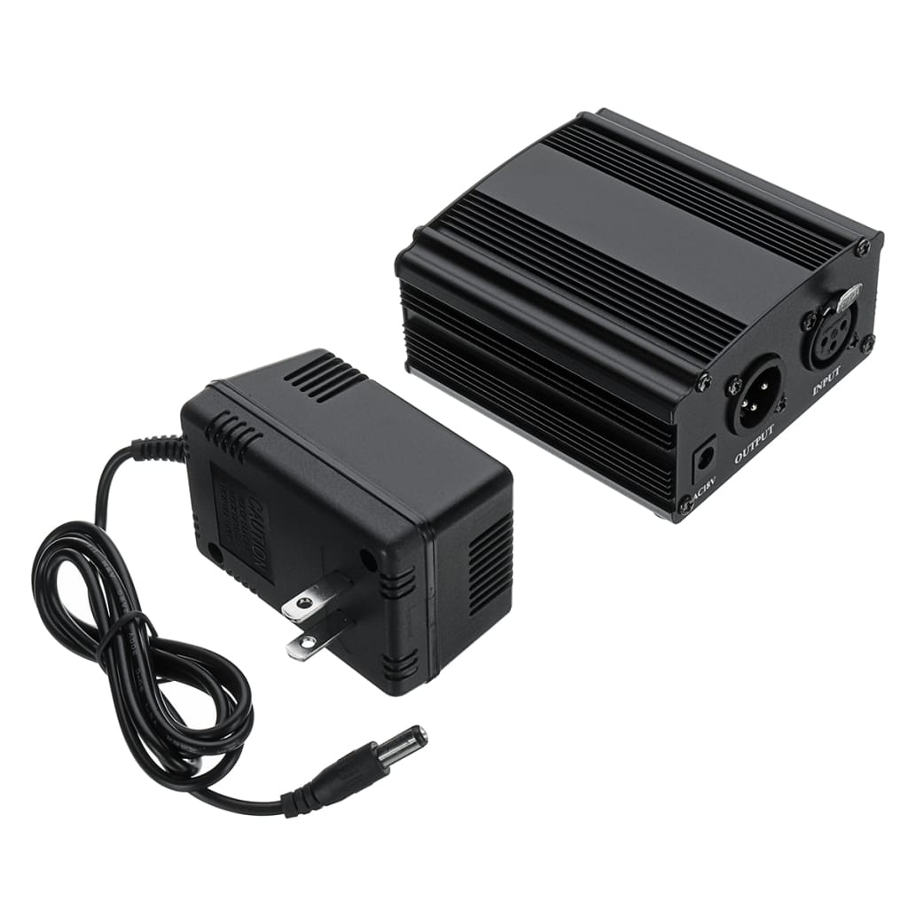 Phantom Power Supply for Microphone with Adapter