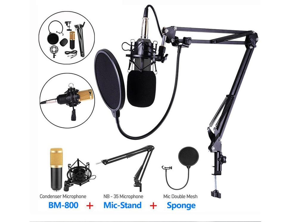 Bm800 Pro Condenser Microphone Kit with V8x Pro