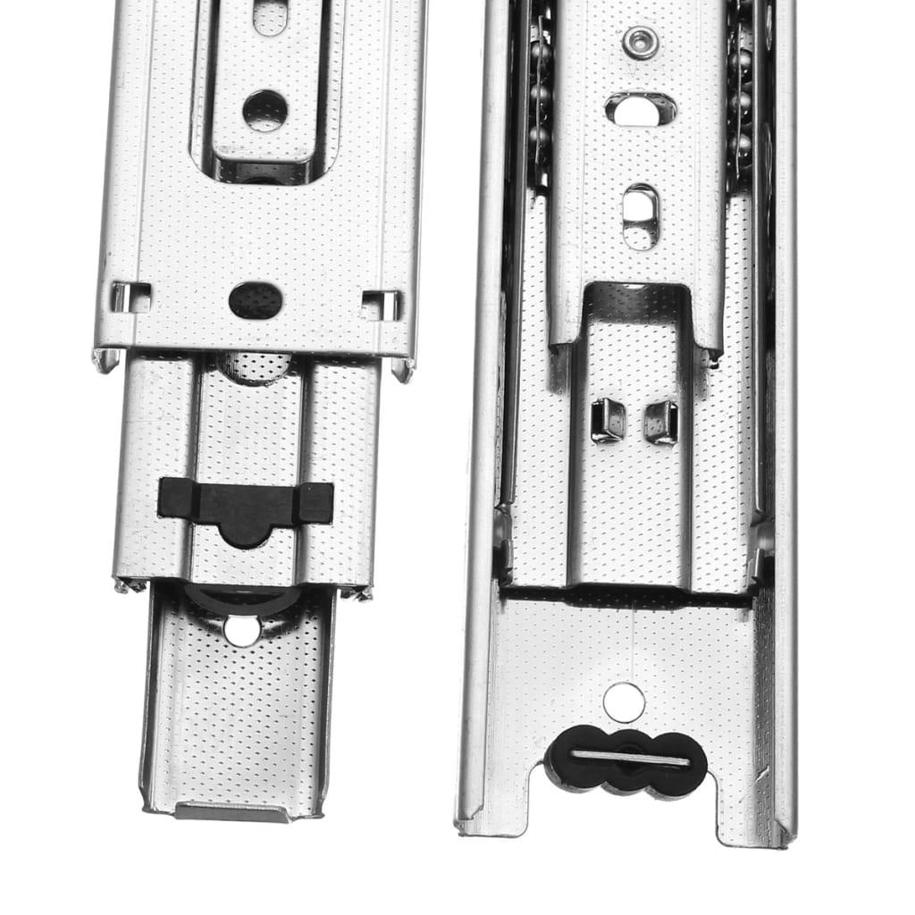 Ball Bearing Slide Rail Cabinet Drawer Runners - 200mm Long