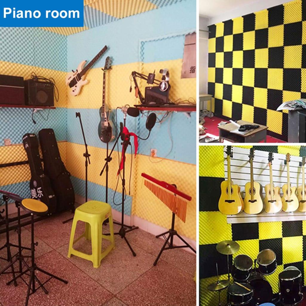 18 Pcs Soundproofing Wedges Acoustic Panels Tiles Insulation