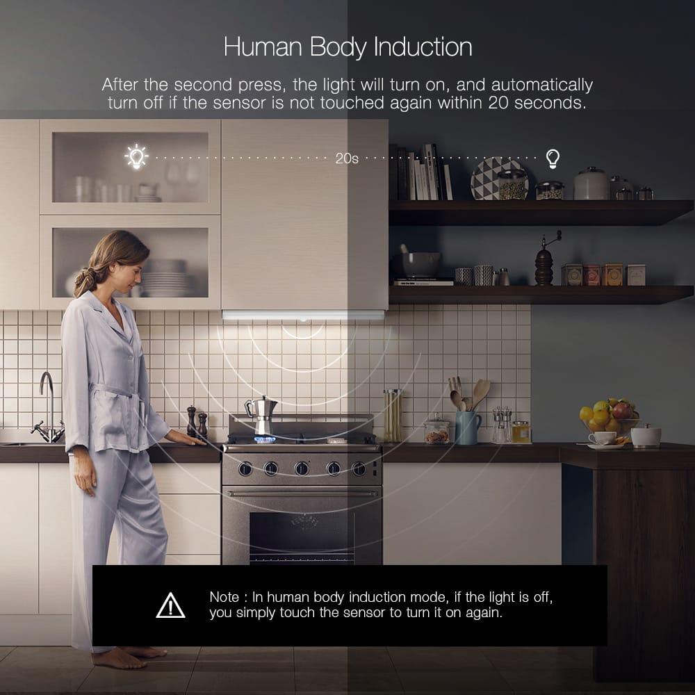Removable Magnetic Led Human Body Sensor Cabinet Light Usb