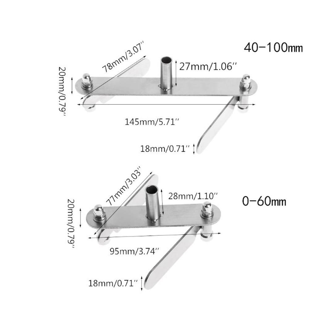 40-100mm Center Finder Pencil Mark Centering Subscriber