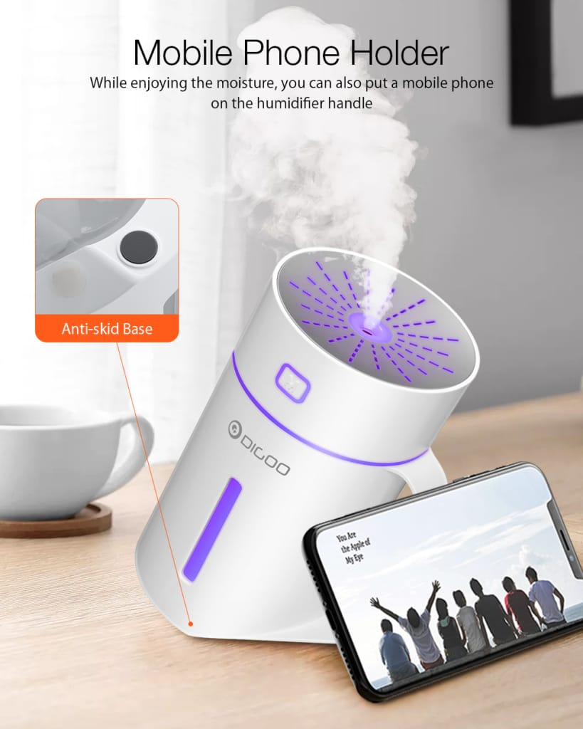 Electric Colorful 420ml Led Night Light Humidifier Touch