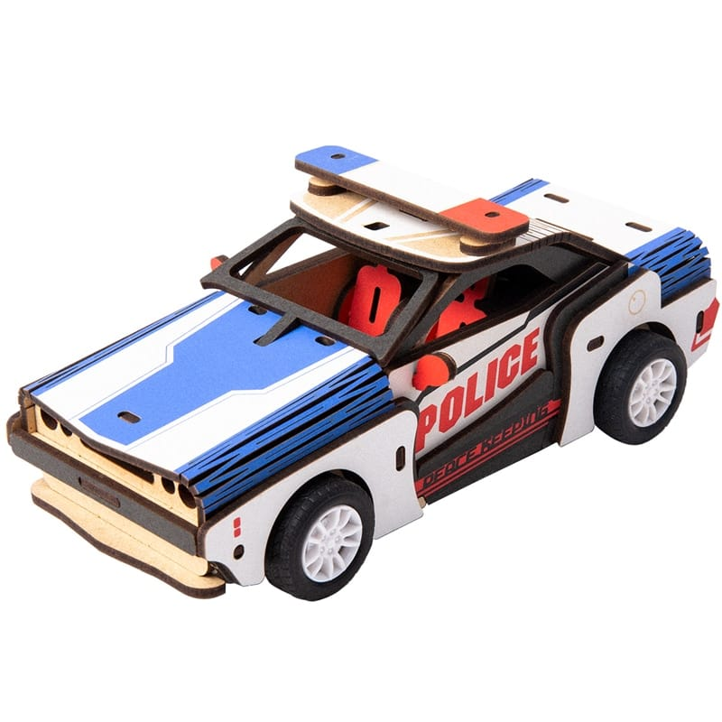 Movable Diy 3d Wooden Inertia Power Car Toy - 4 Options