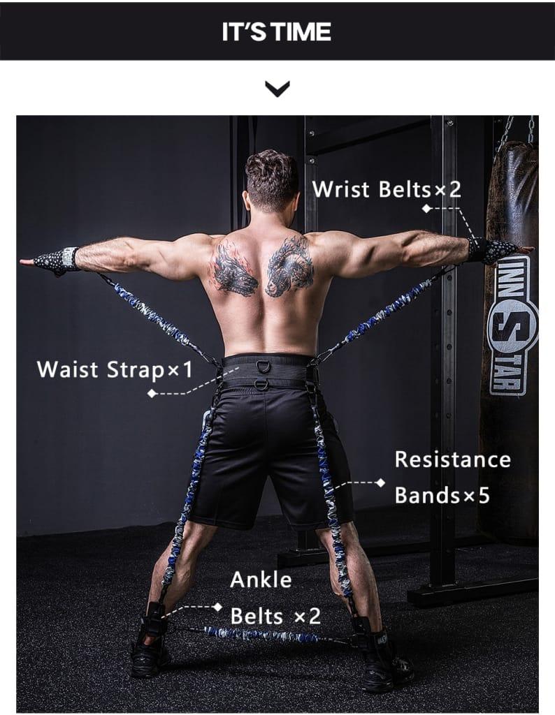 Mma Boxing Fitness full Body Resistance Bands Set Arm Leg