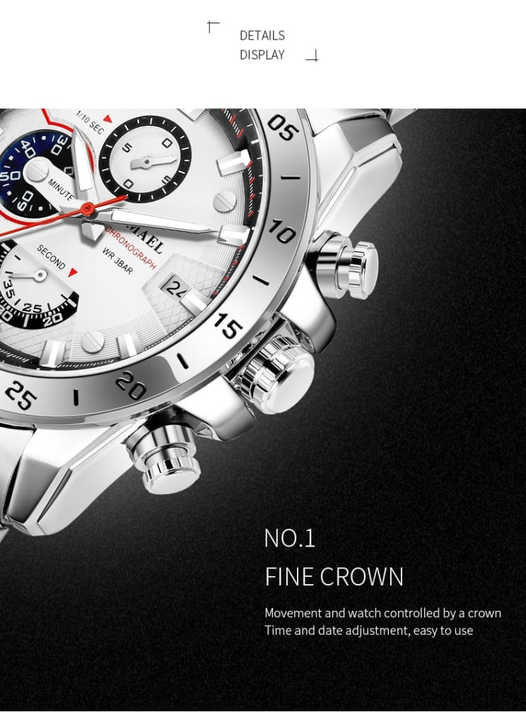 Men's Classic Business with Three Eyes and Six Stitches Dial