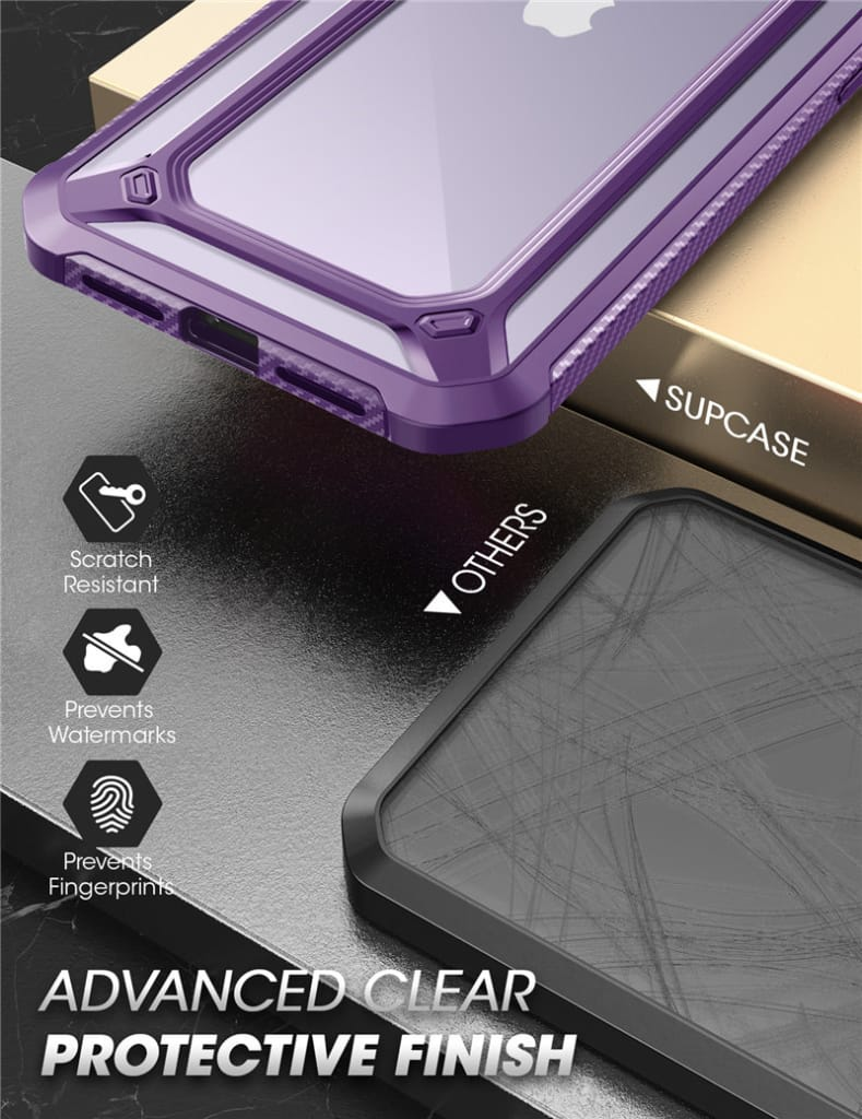 For Iphone 12/12 Pro Protective Clear Bumper back Cover- 3