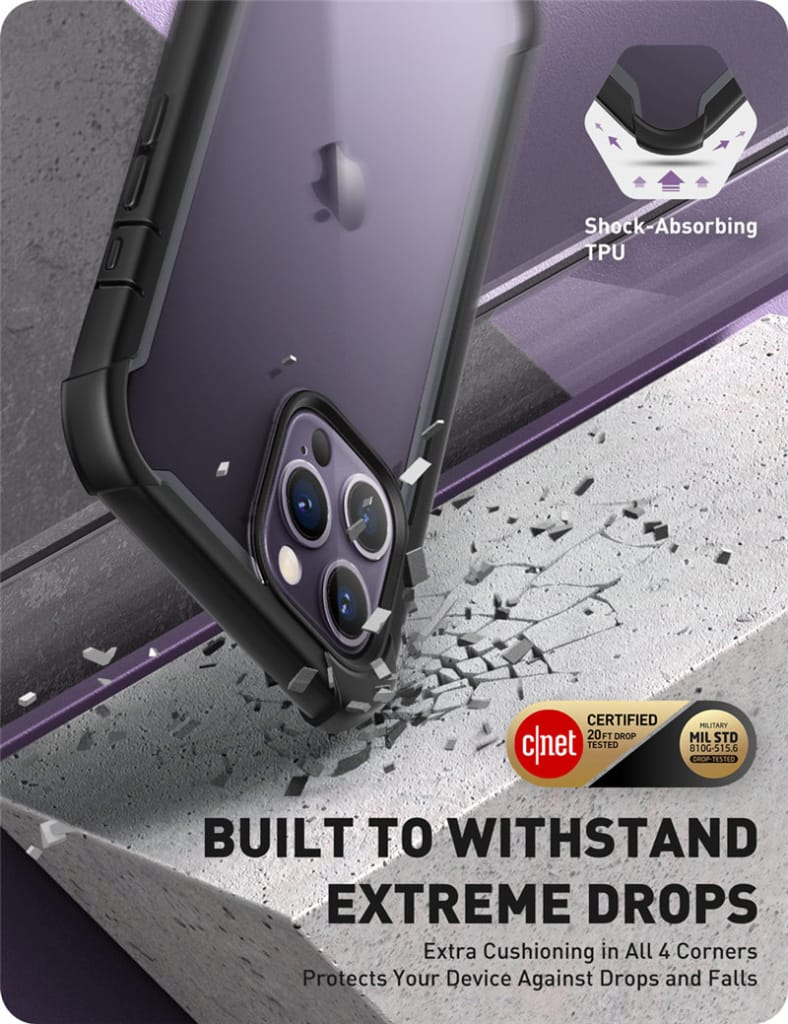 For Iphone 12 Pro Max Full-body Clear Case W/built-in Screen
