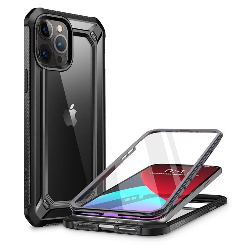 For Iphone 12 Pro Max Clear Bumper Cover W/built-in Screen