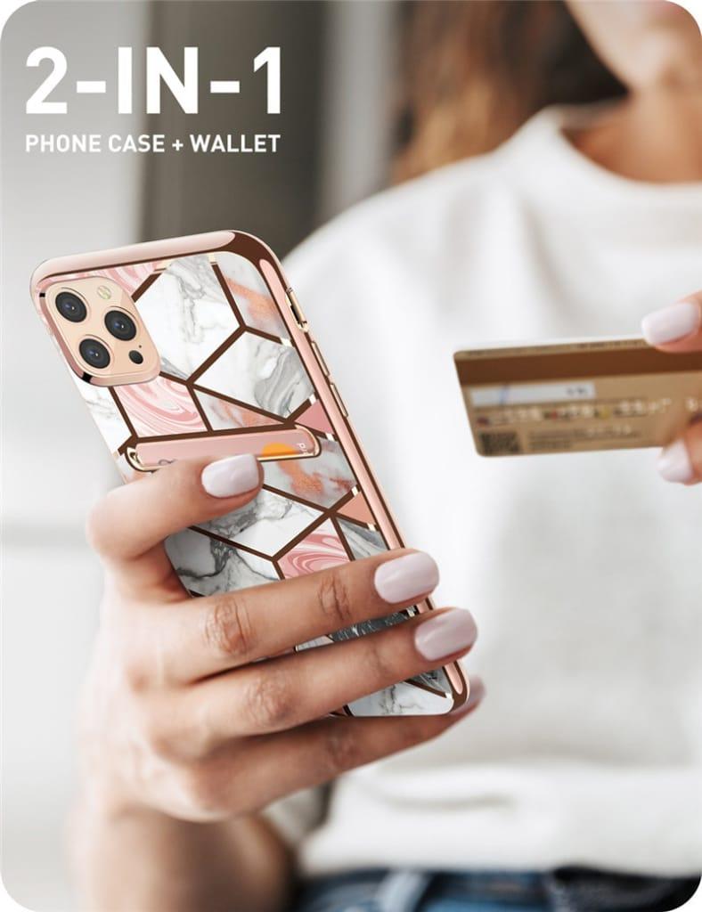 For Iphone 12/pro Max Case Slim Designer Card Slot Wallet
