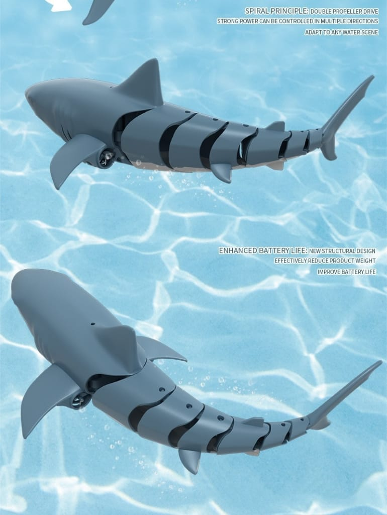 Shark Remote Control 2.4g Simulation Electric Fish 4 Ch