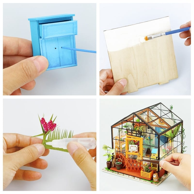 Diy Doll House with Furniture Children Adult Dollhouse - 5