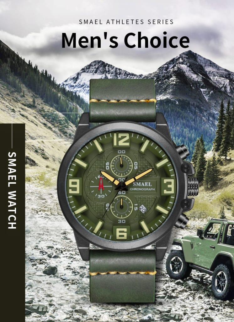 Men's 30m Waterproof Sport Alloy Wrist Watch - 6 Colours