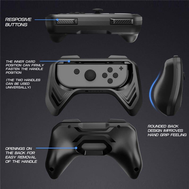 Grip for Nintendo Switch Joy-con, 2-pack Switch Controller