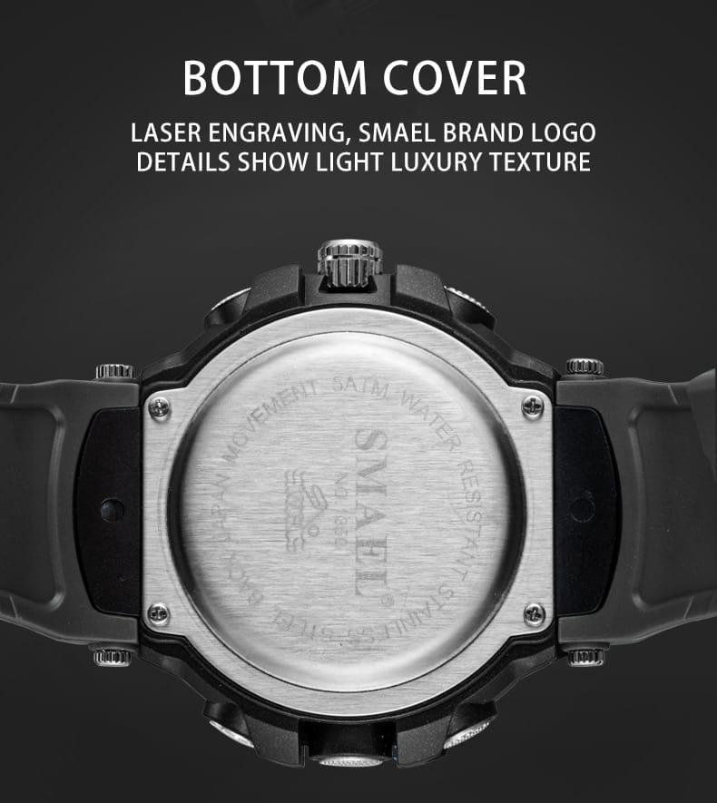 Men's Multi-functional Digital Display Wrist Watch - 7