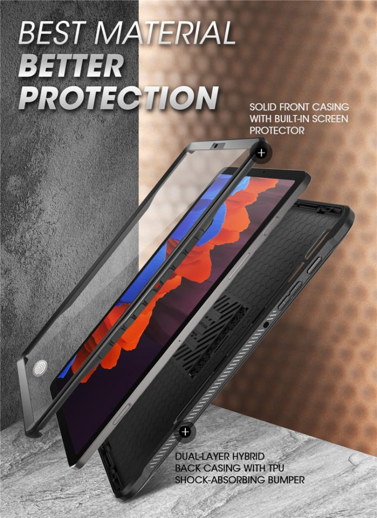 For Samsung Galaxy Tab S7 plus 12.4 Rugged Cover W/built-in