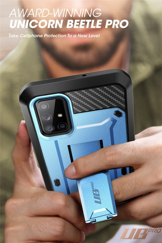 For Samsung Galaxy A71 5g - Rugged Case W/ Built-in Screen