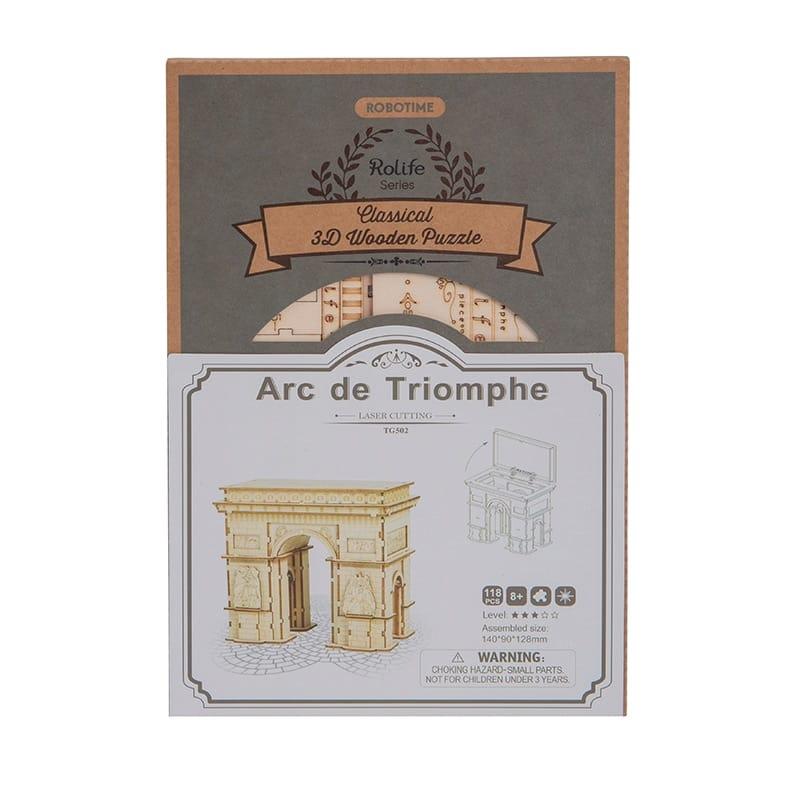 118pcs Diy 3d Arc de Triomphe Wooden Puzzle Game