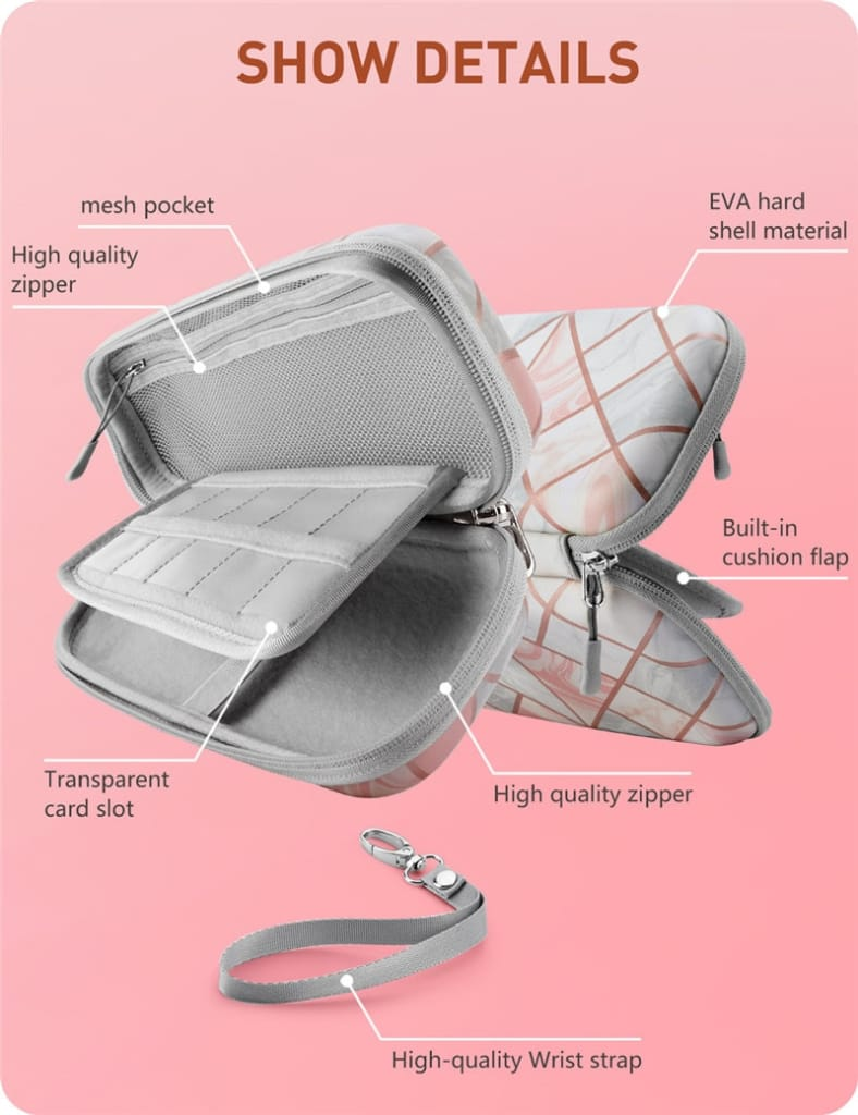 Ulta Slim Hard Shell Travel Carrying Case Pouch for Nintendo