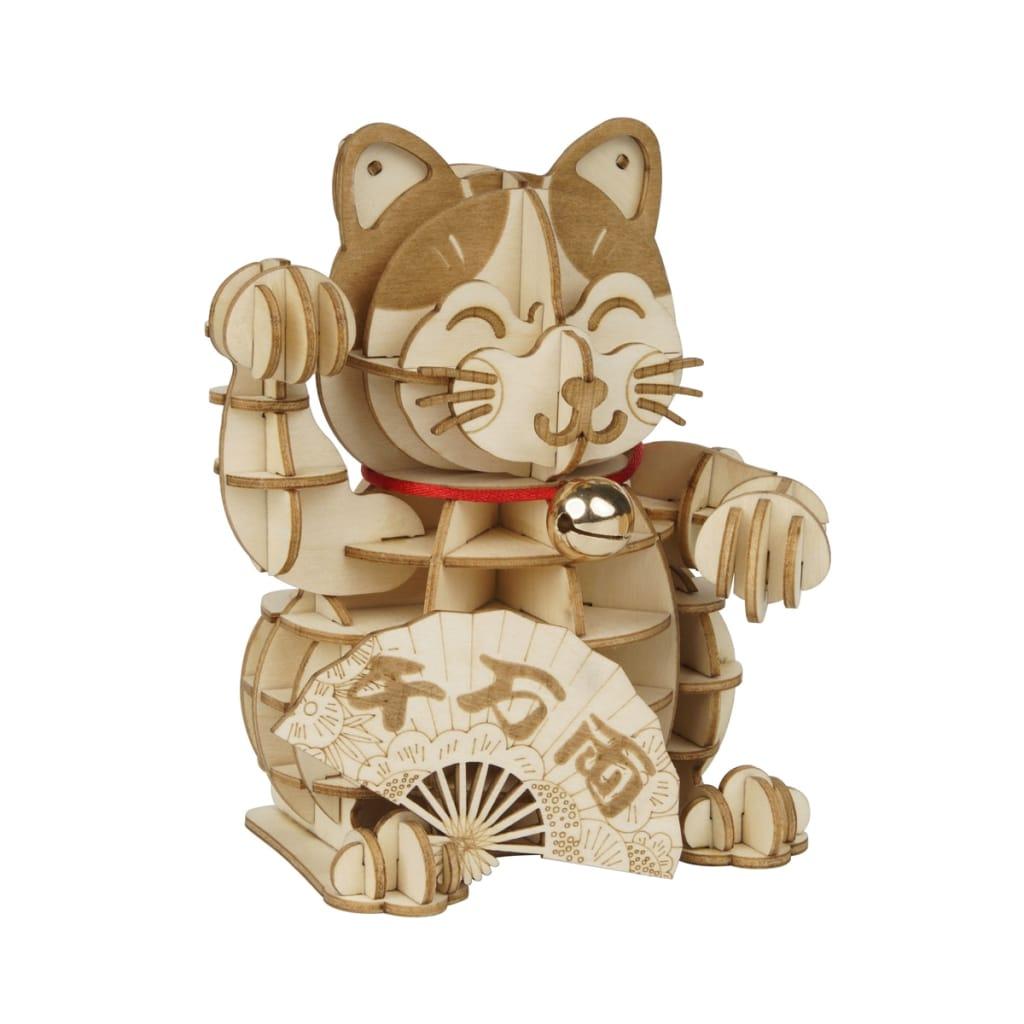 Diy Plutus Cat 3d Wooden Puzzle Game