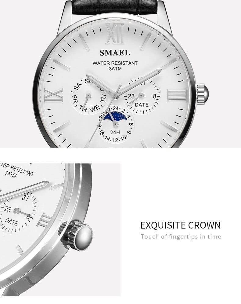 30m Waterproof Men's Stylish Wrist Watch - 5 Colours