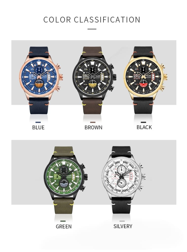 Men's Double Hollow Windows Luminous Mode Stylish Wrist