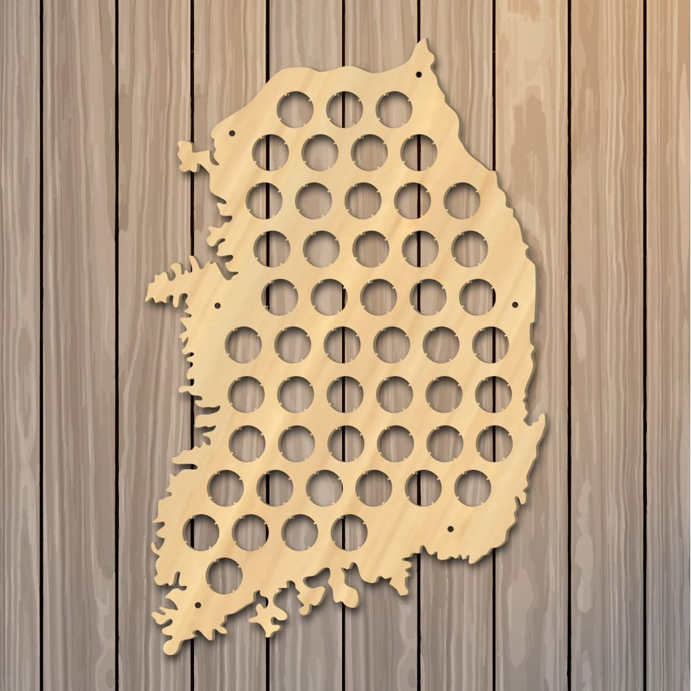 Republic of Korea Beer Cap Map