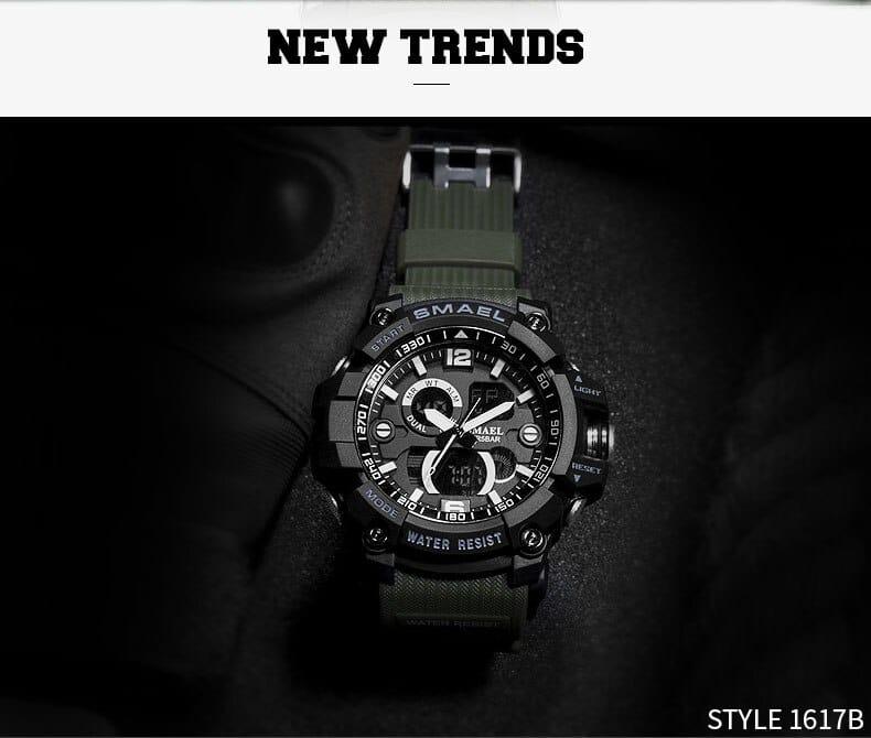 6 in 1 Men's Analog Led Digital Sport Wrist Watch - 7