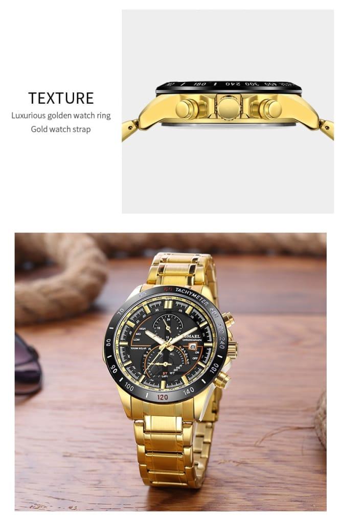 Businessmen's Classic Waterproof Wrist Watch - 5 Colours