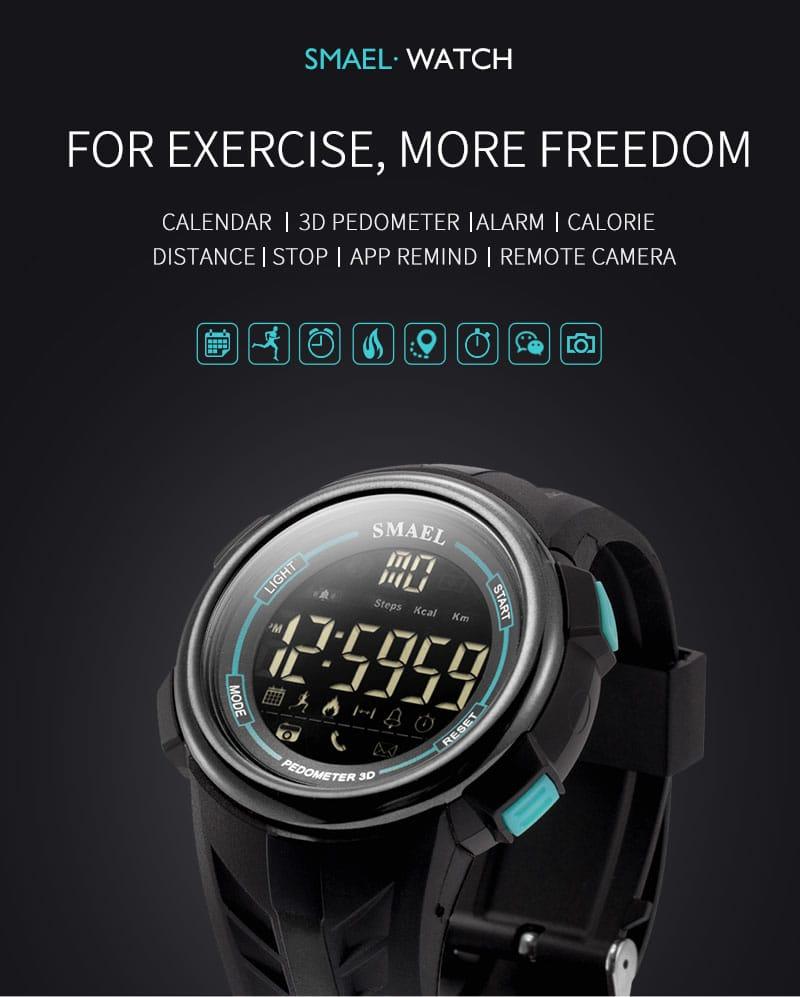 Multi-functional Men's Smart Digital Wrist Watch - 5 Colours