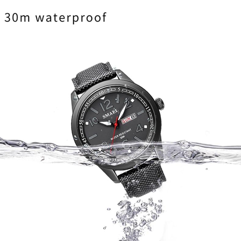Men's Waterproof Big Dial Sport Wrist Watch - 4 Colours