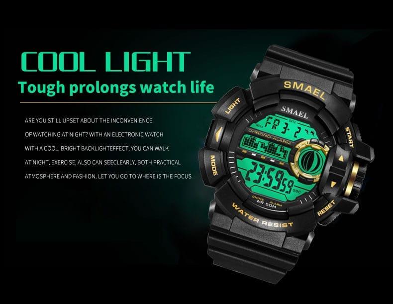50m Waterproof Men's Led Digital Wrist Watch - 7 Colours