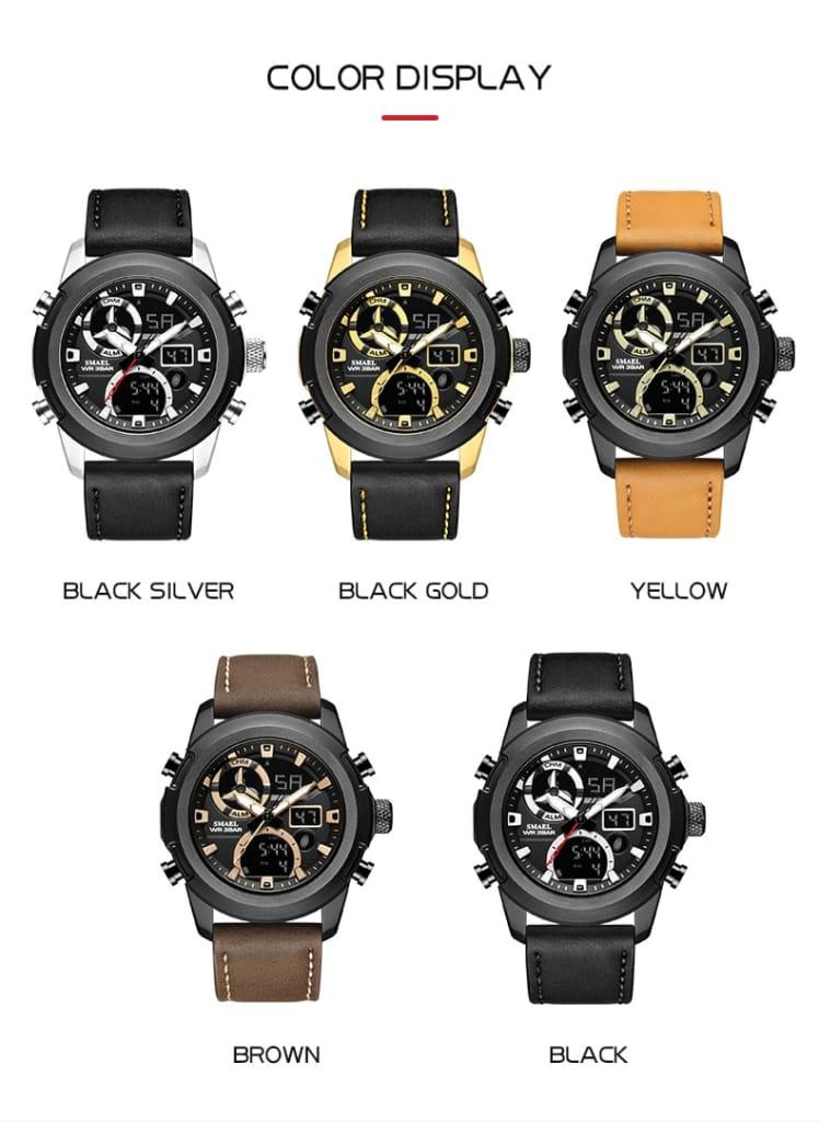 6 in 1 Men's 30m Waterproof Led Wrist Watch - 5 Colours