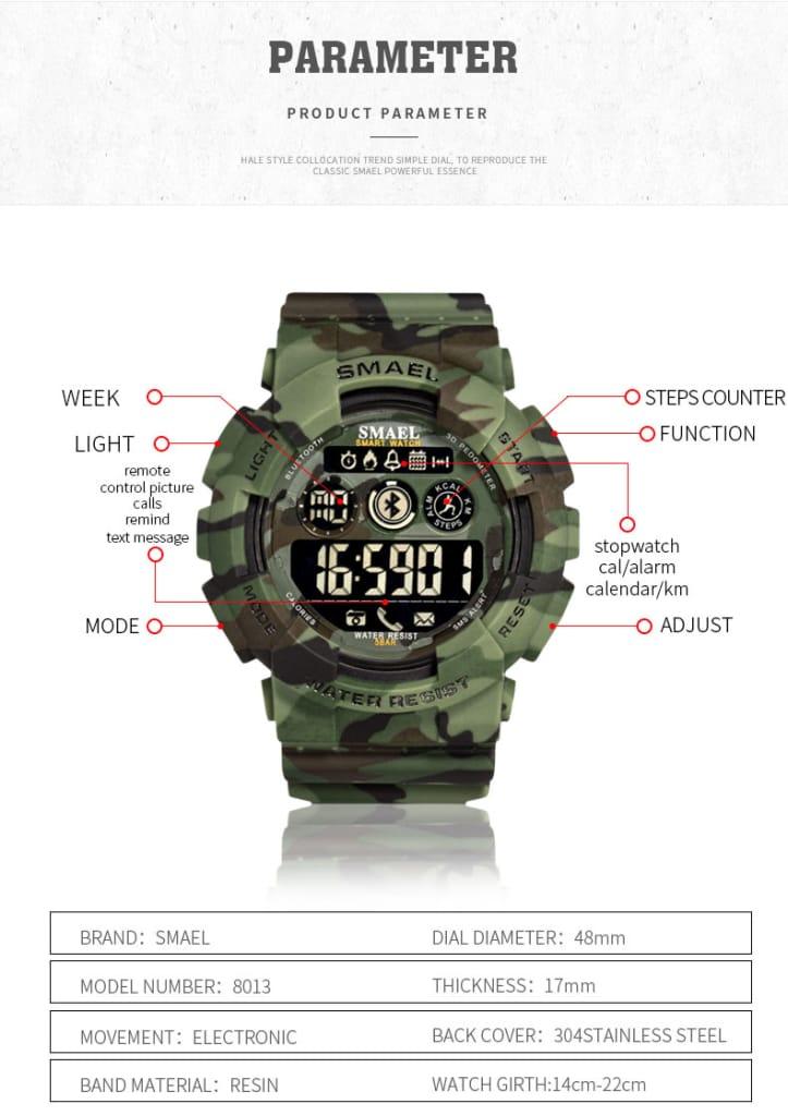Multi-functional Bluetooth Digital Led Wrist Watch - 7