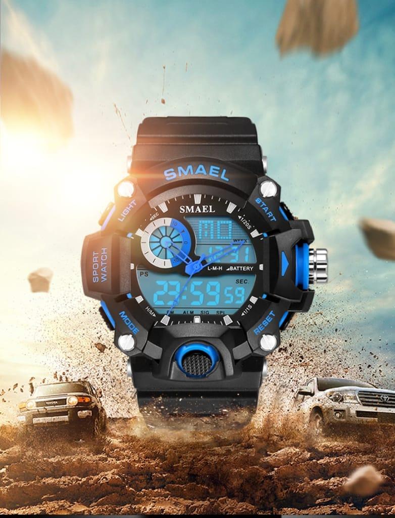 Waterproof Led Digital Men's Watch for Sport - 2 Colours