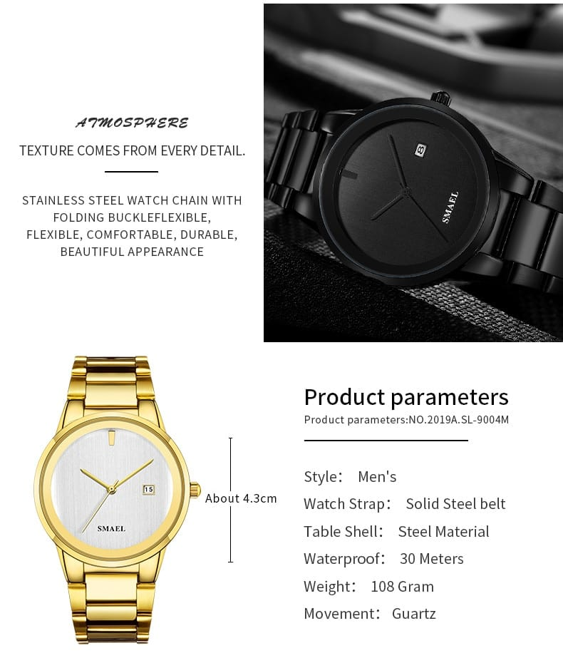 Men's Automatic Luxury Casual Wrist Watch - 5 Colours