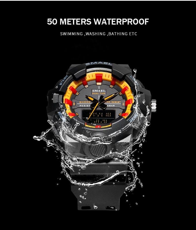Sport Led 50m Waterproof Men's Watch - 7 Colours