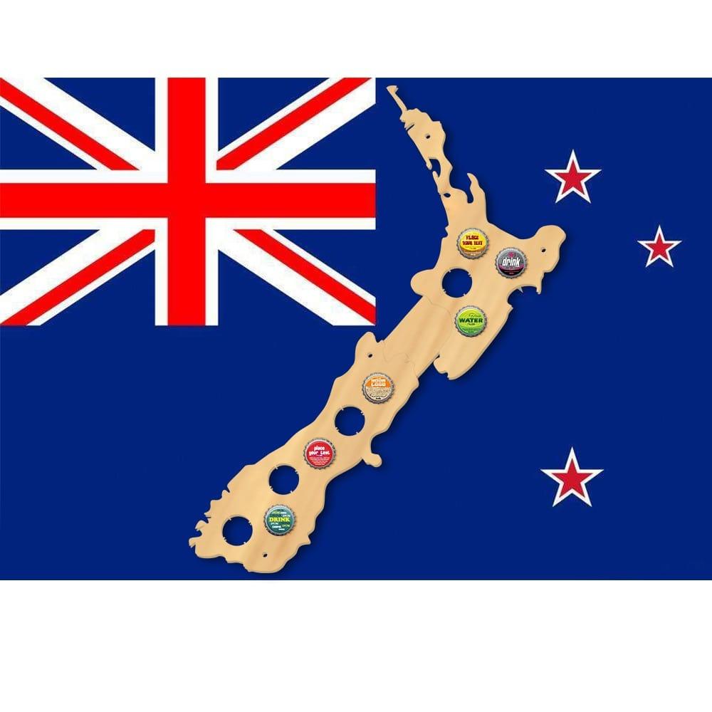 New Zealand Beer Cap Map