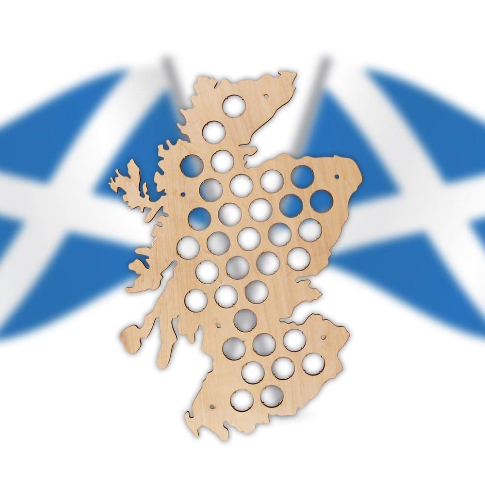 Scotland Beer Cap Map