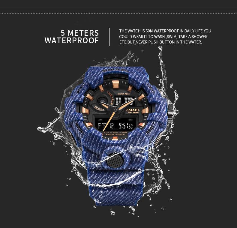 Sport Men's Led 50m Waterproof Digital Wristwatch - 13