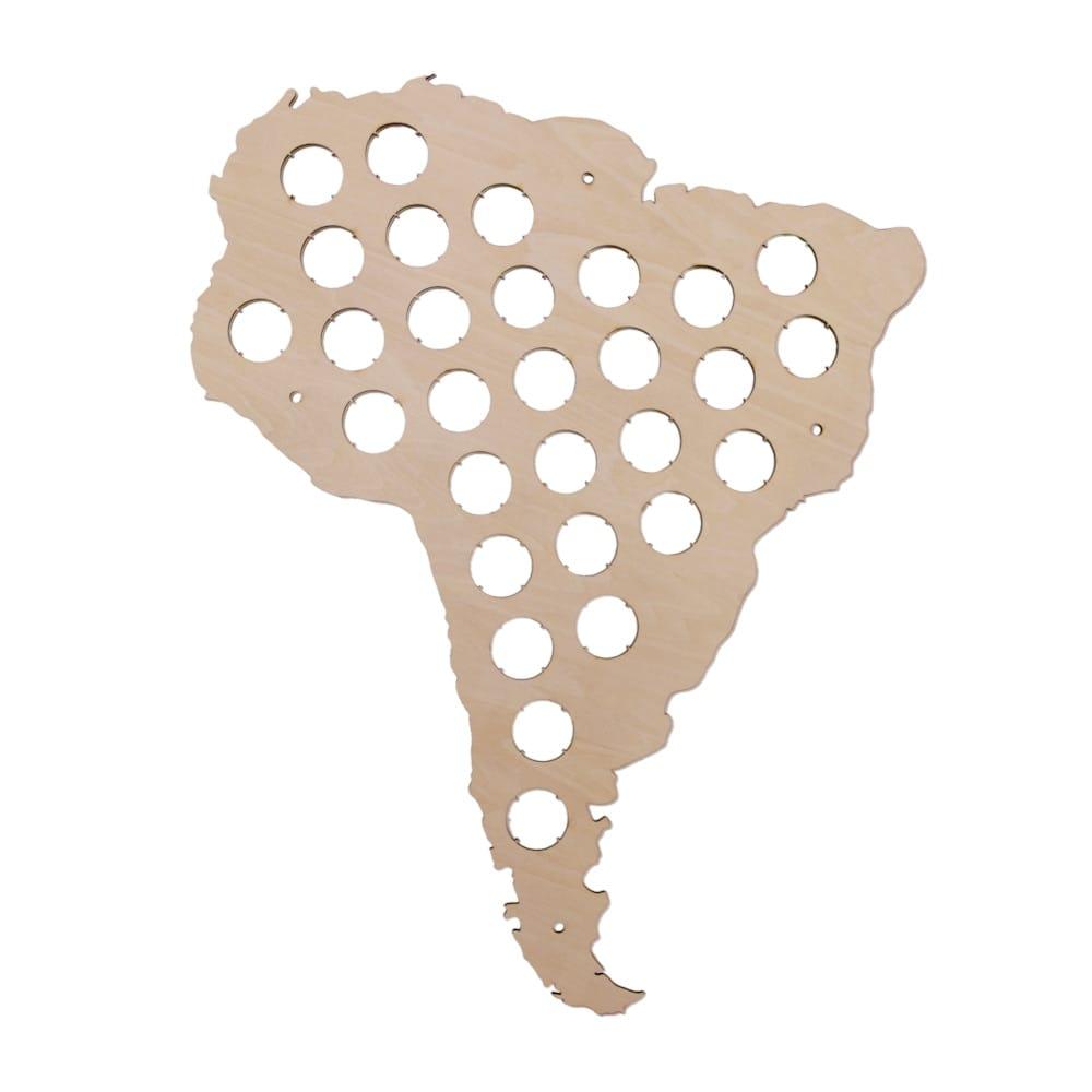 South American Beer Cap Map