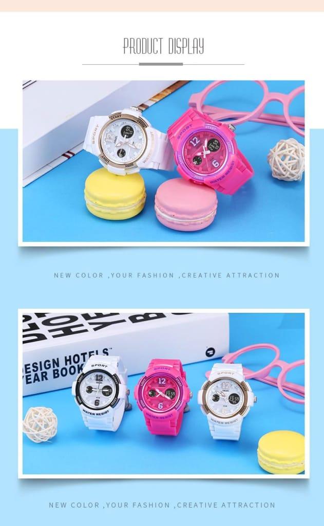 Ladies Waterproof Quartz Watch Bracelet - 19 Colours